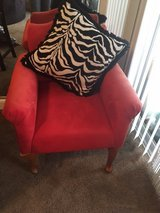 Cute Red comfortable Suede chair in Fort Benning, Georgia