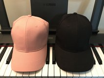 2 caps pink and black in Okinawa, Japan