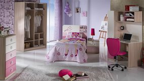 "United Furniture - Girls Twin Bed - ""My Family"" with ""Optimum"" Mattress including delivery in Grafenwoehr, GE"