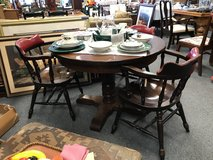 Wood Pedastal Table with 3 chairs in Naperville, Illinois