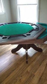 Poker table/bumper pool table(heavy)firm on price in Clarksville, Tennessee