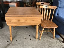 Drop leaf table with two chairs in Bartlett, Illinois