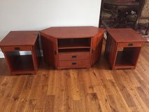 Entertainment Center / End Tables in Naperville, Illinois