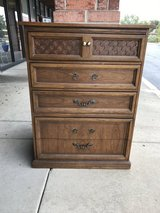 Tall wood dresser in Bartlett, Illinois