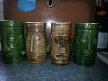 Tiki mugs set in Wilmington, North Carolina
