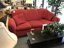 Red Pattern Couch in Batavia, Illinois