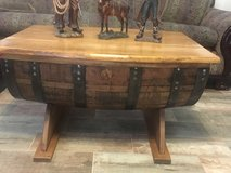 Whiskey barrel coffee table in Baytown, Texas