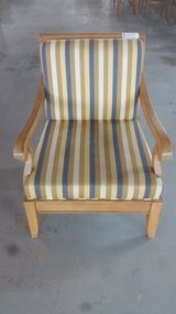 light brown striped chair in Camp Lejeune, North Carolina