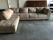 Light Brown sectional in Fort Bliss, Texas