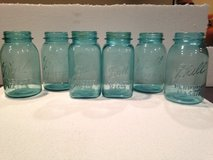 Blue Mason Jars 1 Qt - early 1900's in Elgin, Illinois