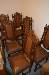 6 Oak Chairs from 1880 in Stuttgart, GE
