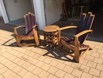 Adirondack chairs and table in Grafenwoehr, GE