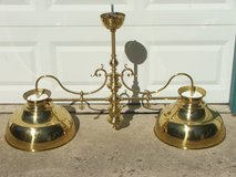 Ornate Brass Hanging Canopy Light Fixture in Chicago, Illinois