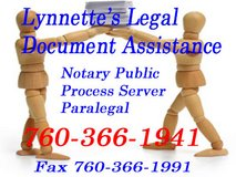 Lynnette's Legal Document Assistance in 29 Palms, California
