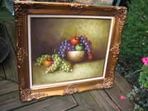 gold french frame with fruit oil in Naperville, Illinois