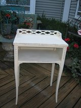 vintage white telephone table shabby chic! in Wheaton, Illinois