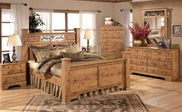 Entire Queen Oak Bedroom Set in Cherry Point, North Carolina