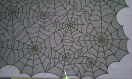 brand new black lace spiderweb tablecloths for Halloween in Goldsboro, North Carolina