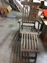 Teak lounge chair in Conroe, Texas