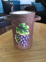 Reduced: Ceramic Wine Cooler with Grapes in Aurora, Illinois