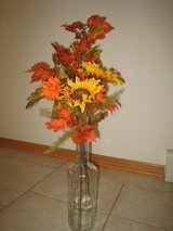 Autumn Colors, Silk flowers with 'bottle' vase. in Chicago, Illinois