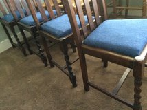 Set of 4 oak barley twist chairs in Houston, Texas