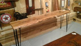Natural Edge Slab Hardwood Table Entry Greeting Area Console/sofa Table HANDMADE BEAUTIFUL! in DeKalb, Illinois