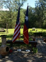 US/ Texas Flag Set in Baytown, Texas