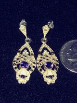 Vintage Sterling silver Amethyst dangle Earrings in Lawton, Oklahoma