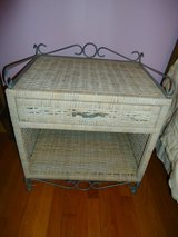 wicker & iron night stand in St. Charles, Illinois