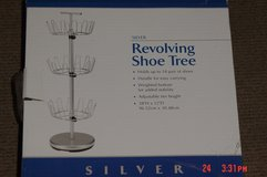 NEW Revolving Shoe Rack 3 Tier Storage 18 Pair Capacity in Naperville, Illinois