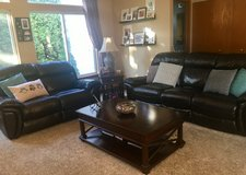 Leather couch and loveseat in Sugar Grove, Illinois