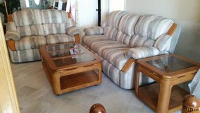 Sofa/love seat/ coffee and end table in Eglin AFB, Florida