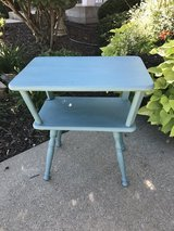 Cute Blue Accent Table in Lockport, Illinois