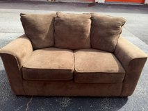 Brown Microfiber Love Seat Couch in Naperville, Illinois