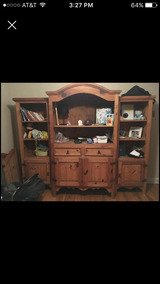 Entertainment Center solid wood &matching end table in Camp Lejeune, North Carolina