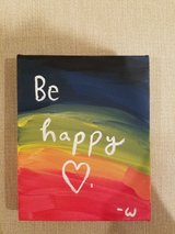"""Be happy"" 4 in x 5 in acrylic painting in Naperville, Illinois"