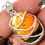 New - Bumble Bee Gemstone Wire Wrap 925 Sterling Silver Pendant (Includes a chain) in Alamogordo, New Mexico
