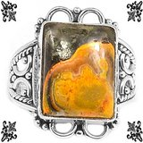 New - Bumble Bee Gemstone 925 Sterling Silver Ring - Size 7 in Alamogordo, New Mexico