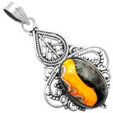 New - Bumble Bee Gemstone 925 Sterling Silver Pendant (Includes a chain) in Alamogordo, New Mexico