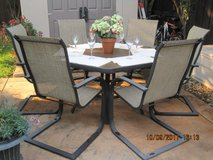 Hexagon Outdoor Table With 6 Chairs in Fairfield, California