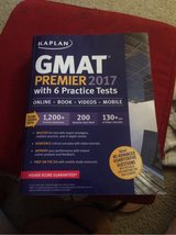 Kaplan GMAT 2017 prep book with 6 practice tests, LIKE NEW BARELY USED in Bellaire, Texas