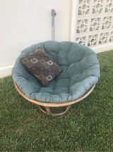 patio chair with pillow in Okinawa, Japan