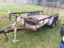 Double axel trailer in Fort Polk, Louisiana