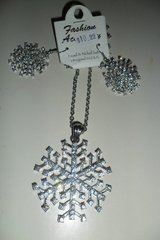 snowflake necklace and earring set in Fort Campbell, Kentucky