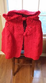 Little Red Riding Hood Cape - Crocheted in Glendale Heights, Illinois