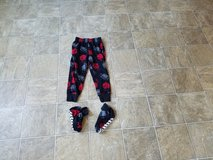 Boys size XS (4-5) pajama pants with slipper socks in Fort Riley, Kansas