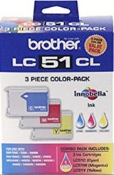 Brother LC51 - Ink Cartridges (3-Count) - Cyan, Magenta, Yellow in Camp Lejeune, North Carolina