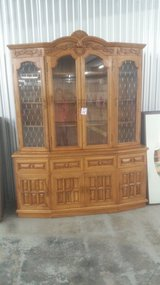 Oak china cabinet in Camp Lejeune, North Carolina