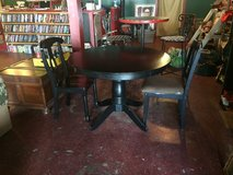 Black Solid Wood Table With 2 Chairs in Fort Polk, Louisiana